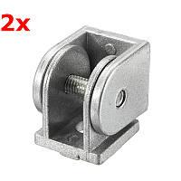 Suleve ™ ZAH20 2шт.Шарнирный промышленный регулируемый угловой разъем Цинковый сплав 20х20мм