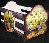 Оригинальный ящик под хлеб, ручная работа, декупаж, дерево и фанера, 21х33х20 см., 420 гр., фото 3