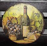 Оригинальный ящик под хлеб, ручная работа, декупаж, дерево и фанера, 21х33х20 см., 420 гр., фото 6