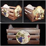 Оригинальный ящик под хлеб, ручная работа, декупаж, дерево и фанера, 21х33х20 см., 420 гр., фото 7