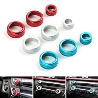 3шт/комплект автомобиля Alu декоративные покрытия стерео/с ручки кружки ручки кольцо для 5series BMW 5 6 7 серии GT
