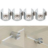 4шт полки опорные кронштейны зажим для стеклянных полок деревянные акриловые держать 6-10 мм
