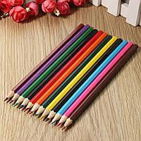 12 шт Водорастворимые 12 цветов Акварельные карандаши Цветные карандаши