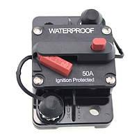 50а автомобиль лодка с.в. зажигания защищен выключатель ручного сброса автоматический выключатель держатель сбрасываемый предохранитель