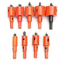 9шт M42 16-38мм HSS сверлильные станки для резки отверстий для резки отверстий для деревообрабатывающего железа