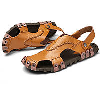 Мужские босоножки Натуральная кожа Мягкие подошвы в стиле повседневного дышащего воздухопроницаемого ботинка