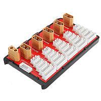 PG Параллельная плата для зарядки Поддерживает 5 комплектов 2-6S Lipo Battery XT60 T Plug