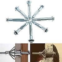 10Pcs Металл M4 Пластина Пластиковые анкеры для стеновых панелей для гипсокартонных плит Инструмент