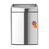 Бак для мусора прямоугольный Brabantia Touch Bin 10 л (серебряный)