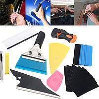 10 In 1 Window Tint Tools Набор для аппликаций для автомобилей Набор для наклеивания виниловых пластинок с наклейками