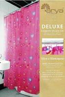 Шторка для ванной Pink Love 180*180