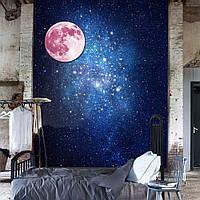 30см розовый большой стикер луны стены съемными светятся в темноте светящиеся наклейки домашнего декора