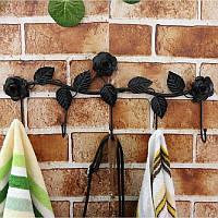 5 крючки стены вешалки для ванной комнаты цветы выходит металлическая дверь крюк одежды полотенцесушитель
