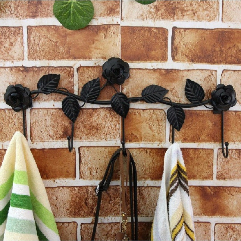 5 крючки стены вешалки для ванной комнаты цветы выходит металлическая дверь крюк одежды полотенцесушитель - ➊TopShop ➠ Товары из Китая с бесплатной доставкой в Украину! в Днепре