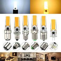 Dimmable E11 E12 E14 E17 G8 BA15D 2.5W LED COB силиконовая лампа лампа 220V