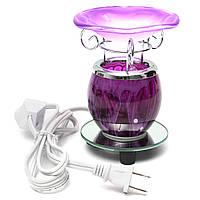 Фиолетовый электрический ароматический масляный нагреватель с восковой лампой с ламповой горелкой Ароматизированный рассеиватель лампы