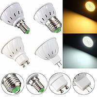 E27 E14 GU10 MR16 3.5W 27 SMD 5730 Non-Dimmable LED Теплый белый белый свет пятна Лампа Лампа AC110 / 220V