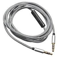 1.2M/1.5M 3.5 мм аудио кабель для наушников с микрофоном для Skullcandy Crusher AVIATOR 2.0