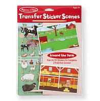 "Переводные наклейки ""Ферма"" / Transfer Sticker Scenes - Around the Farm ТМ Melissa & Doug MD9531"