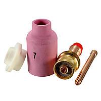 4шт аргонно-дуговой сварки пистолет потока сопло направляющие Изоляторы прокладку
