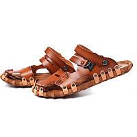 Мужская пляжная обувь дышащие сандалии летняя нескользящая мягкая обувь мужские тапочки