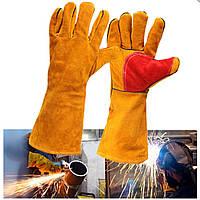16inch Heavy Duty Lined Укрепленные рукавицы пальчиковой сварки Сварные рабочие перчатки