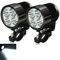 2pcs 12W 6000K LED Прожектор дневного света мотоцикл Скутер Авто Грузовик Van