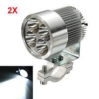 2шт 12W 6000K LED Светильник для дневного света с подсветкой для мотоцикл Scooter Авто Грузовик Van
