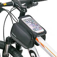 ROSWHEEL 5,7-дюймовый сенсорный экран велосипед телефон Чехол водонепроницаемый MTB дорожный велосипед Велоспорт верхняя рама труба сумка