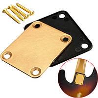 Гитара шеи пластины с 4 винтами для замены части крыла STRAT электрогитарой