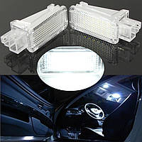 Пара LED внутреннее освещение дверей любезно багажа для ног лампа для Audi VW Skoda Lambo