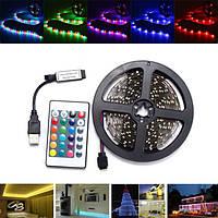 0.5 / 1/2/3 / 4M SMD3528 Non-водонепроницаемый RGB LED Полоса свет телевизора Backlilghting Лампа + USB Дистанционный DC5V