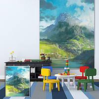 Вол гора декора стен занавес окна рольставни печать картины рольставни фон