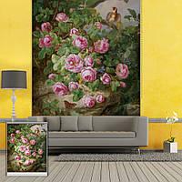 Вол стены окна декора занавеса лавровый цветок рольставни печать картины рольставни фон