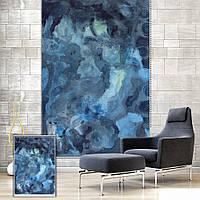 Вол декор стен занавес окна рольставни абстрактной акварелью рольставни фон