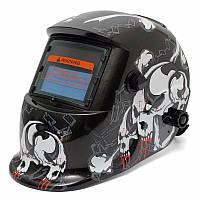 Черный череп Автоматическое затемнение солнечного сварки размола сварщика маски шлем