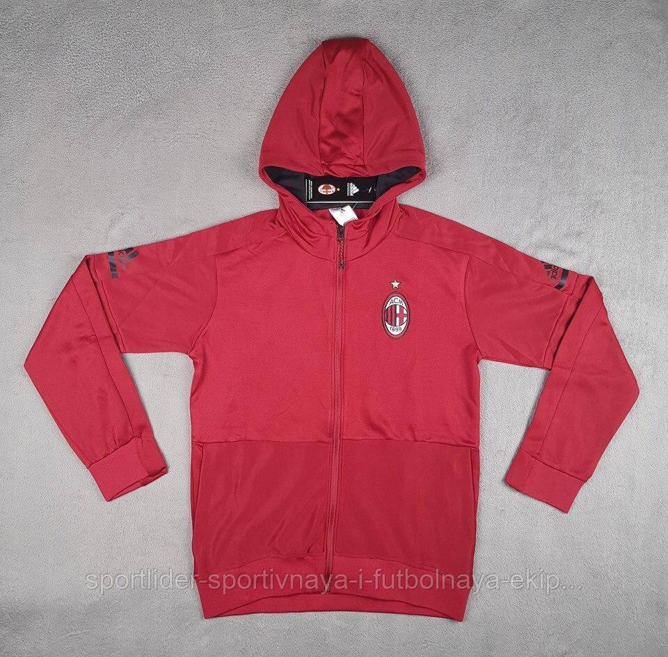 e3b785c9a6961 Олимпийка мужская с капюшоном Adidas Hoodie Adidas AC Milan 2017-18 ...