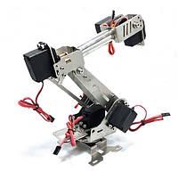 Нержавеющая сталь Манипулятор 6DOF Вращающаяся Собранный Robot Arm С 6pcs Servo