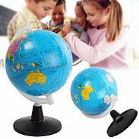 8.5см Глобус мира атлас карта с шарнирным стенд географии образовательные игрушки домашнего декора подарок