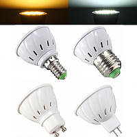 E27 E14 GU10 MR16 4W 5730 SMD 33 400LM Чистый белый Теплый белый LED Spot Lightt Лампа Лампа AC85-265V