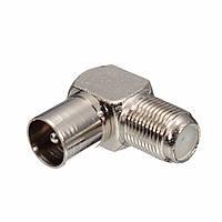 90 градусов F разъем Прямоугольный ТВ штекер коаксиального кабеля коаксиальный мужской штепсель антенны кабель