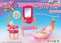 Мебель для куклы Gloria 2913  для ванной,  в кор, 26, 5*19*8  см.