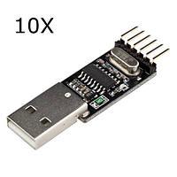 10Pcs RobotDyn® USB Последовательный адаптер CH340G 5V / 3.3V USB для Ttl-uart Для Arduino Pro Mini DIY