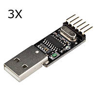 3Pcs RobotDyn® USB Последовательный адаптер CH340G 5V / 3.3V USB для Ttl-uart Для Arduino Pro Mini DIY