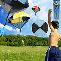 5pcs случайные цвета Skydiver дети игрушки ручной бросать парашют кайт На открытом воздухе играть игры игрушки