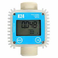 K24 1дюйм Цифровой турбинный дизельного топлива Расходомер Guage Счетчик воды химических веществ
