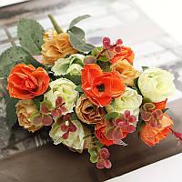 1 букет 21 голов искусственные розы цветы лист домашняя вечеринка свадьба украшение ремесло
