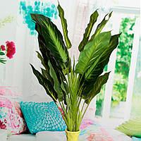 50см реалистичное вечнозеленые листья искусственные растения цветы Simulation куст в горшке цветок домашний декор