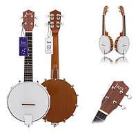 ИРИН четыре струны Сапели банджо изысканного профессионального banjolele