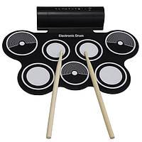 KONIX Portable Roll Up USB MIDI Electronic Drum 7 Pads Встроенный динамик для начинающих для детей MD759
